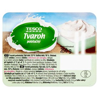 Tesco Curd Semi-Fat 250g