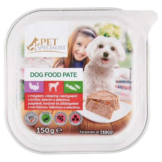 Tesco Pet Specialist Pate with Turkey, Veal and Vegetables 150g