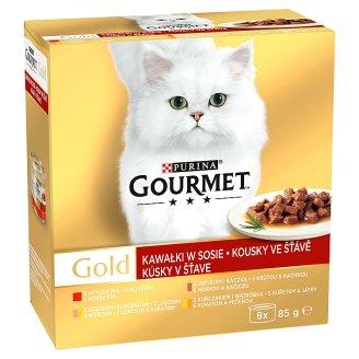 GOURMET Gold Multipack kousky ve šťávě 8 x 85g