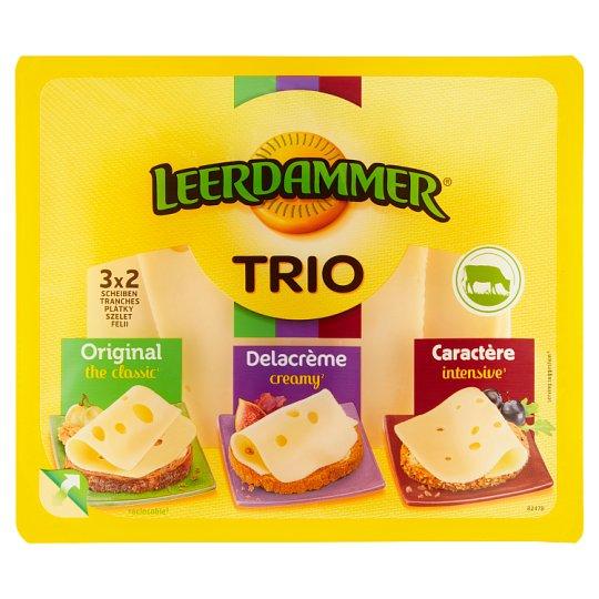 Leerdammer Trio směs plátkových sýrů 3 x 2 plátky 125g