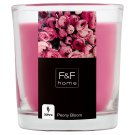 F&F Home Peony Bloom Glass Filled Candle