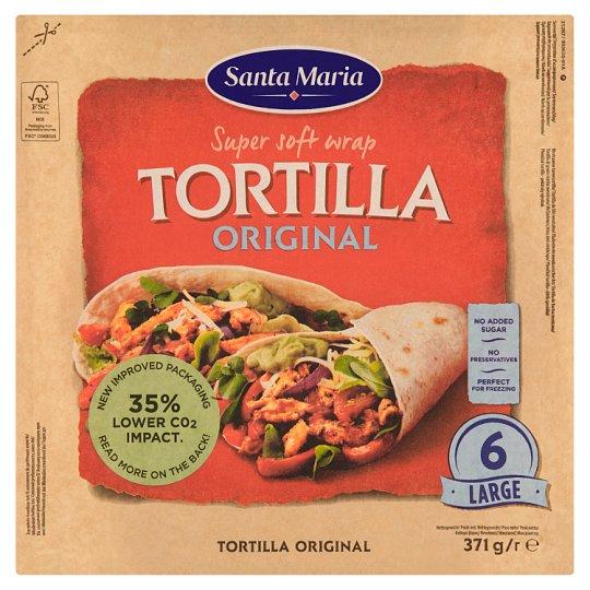 Santa Maria Mexican Wheat Tortillas Large 6 pcs 371g