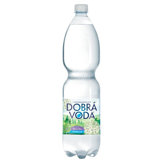 Dobrá voda Neperlivá s příchutí bezinka 1,5l