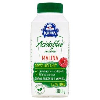 Mlékárna Kunín Acidofilní mléko malina 300g