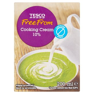 Tesco Free From Lactose Free* Durable Cooking Cream 200ml