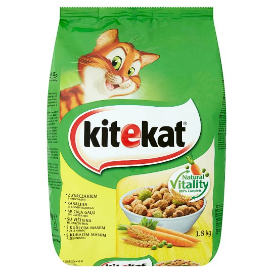 Kitekat Chicken with Vegetables Complete Food for Adult Cats 1.8kg