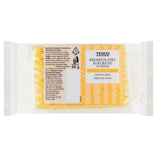 Tesco Fragile Corn Slices with Cheese 65g