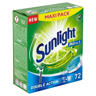 Sunlight All in 1 Tablety do myčky nádobí 72 ks 1260g