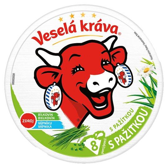 Veselá Kráva Melted Cheese with Chives 8 pcs 120g