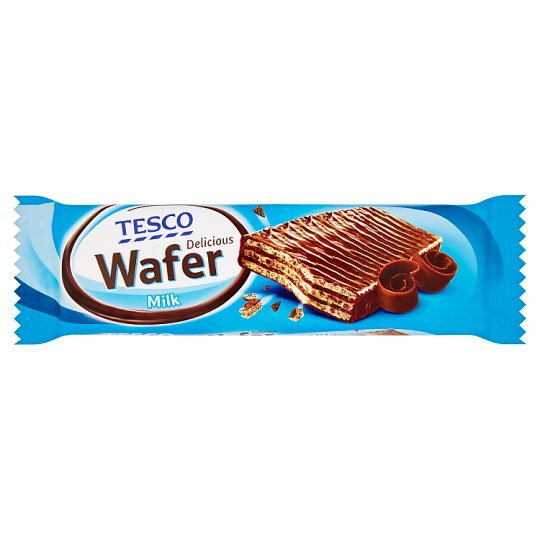 Tesco Delicious Wafer Milk 33g