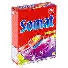 Somat All in 1 Lemon & Lime tablety do myčky na nádobí 48 tablet 864g