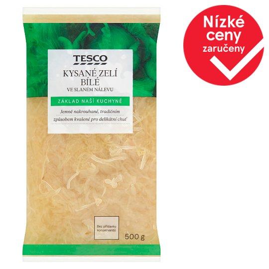 Tesco Fermented White Cabbage in Brine 500g