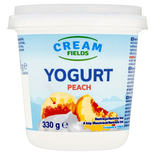 Cream Fields Jogurt s broskvovou příchutí 330g