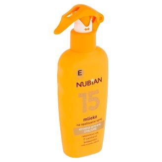 Nubian Mléko na opalování sprej SPF 15 200ml