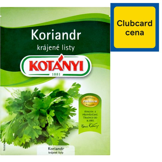 Kotányi Koriandr krájené listy 6g