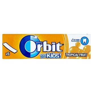 Wrigley's Orbit For Kids! Tropical fruit žvýkačka bez cukru s příchutí tropického ovoce 5 ks 13g