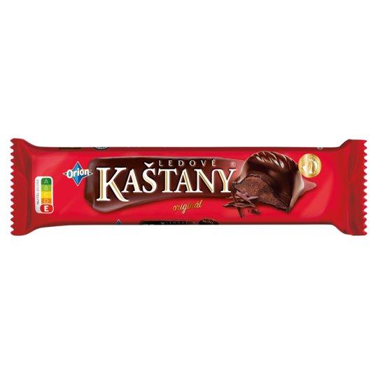 ORION LEDOVÉ KAŠTANY Tyčinka v hořké čokoládě s kakaovooříškovou náplní 45g