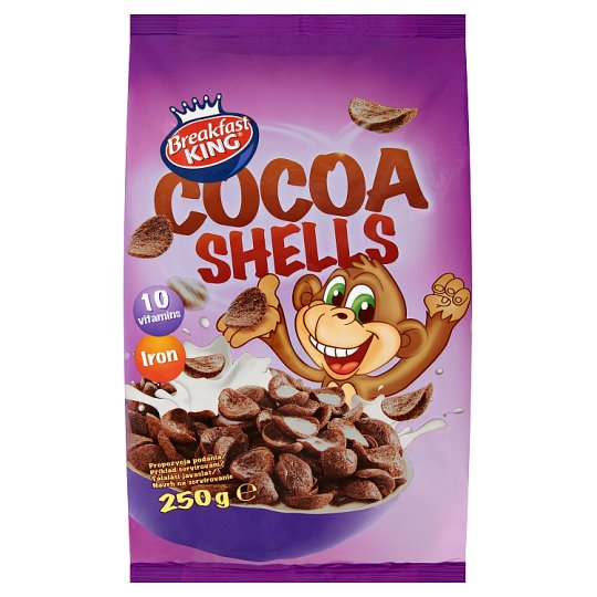Breakfast King Cereal Cocoa Shells with Vitamins and Iron 250g