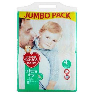 Tesco Loves Baby Ultra Dry Plenky 4+ maxi+ 74 ks