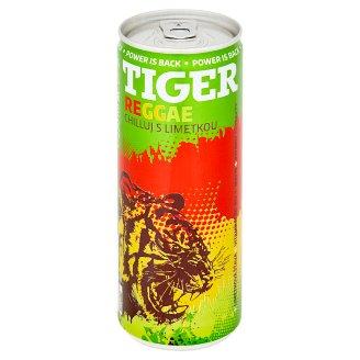 Tiger Reggae Lime sycený energetický nápoj 250ml