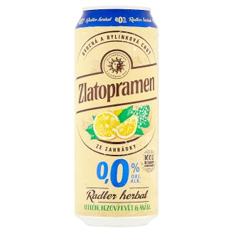 Zlatopramen Radler Herbal citrón, bezový květ & máta 500ml