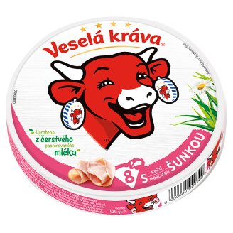 Veselá Kráva Melted Cheese with Ham 8 pcs 120g