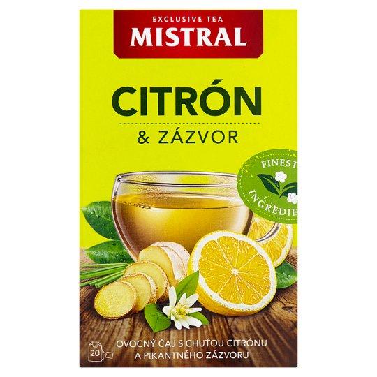 Mistral Ovocný čaj s příchutí citron a zázvor 20 x 2g