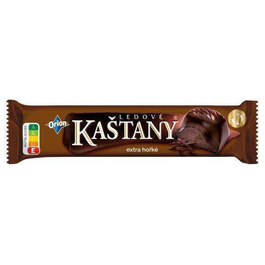 ORION LEDOVÉ KAŠTANY Tyčinka v extra hořké čokoládě s kakaovooříškovou náplní 45g