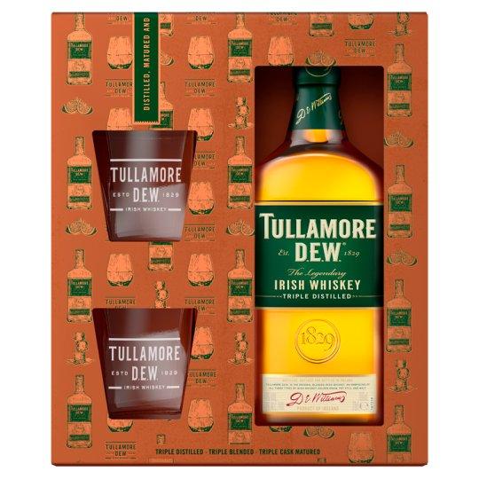 Tullamore D.E.W. Irish Whiskey 700ml + 2 Glasses
