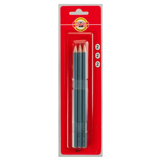 KOH-I-NOOR Set of Graphite Pencils Hardness 2 3 pcs