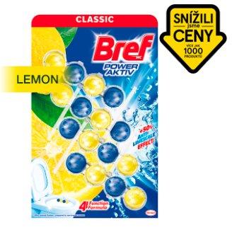 Bref Power Aktiv Juicy Lemon tuhý blok pro WC péči 4 x 50g
