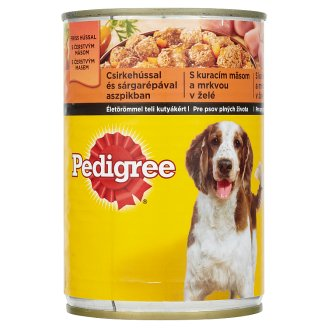 Pedigree Complete Food for Adult Dogs with Chicken and Carrots in Jelly 400g
