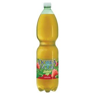 Dobrá voda Zelený čaj jahoda 1,5l