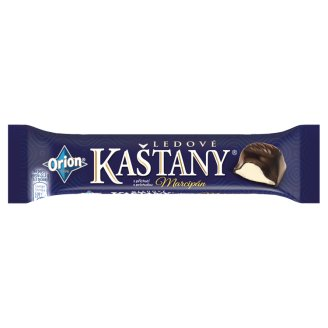 ORION LEDOVÉ KAŠTANY Tyčinka s příchutí marcipánu v hořké čokoládě 45g
