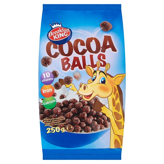 Breakfast King Cereal Chocolate Balls with Vitamins, Calcium and Iron 250g
