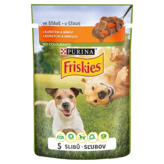 Friskies PES VitaFit Pocket with Chicken and Carrot in Juice 100g