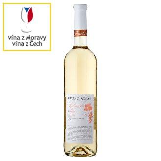 Víno Z Kobylí Sylvánské zelené Gallery 2013 jakostní víno odrůdové suché bílé 0,75l