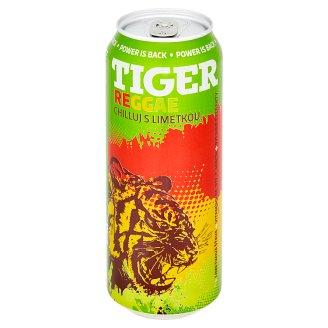 Tiger Reggae Lime sycený energetický nápoj 500ml