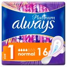 Always Platinum Sanitary Towels Wings Ultra Normal Plus (Size 1) 16 Pads