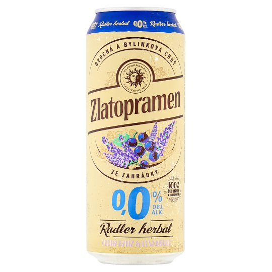 Zlatopramen Radler Herbal Black Currant & Lavender 500ml