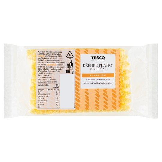 Tesco Křehké plátky kukuřičné 65g