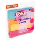 Söke Microfibre Cloths 4 pcs