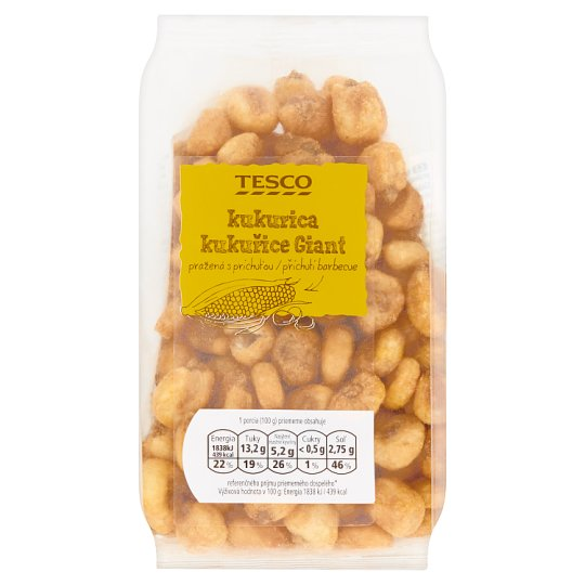 Tesco Corn Giant Roasted with Barbecue Flavor 150g