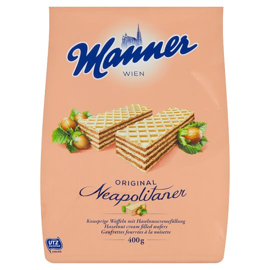 Manner Hazelnut Cream Filled Wafers 400g