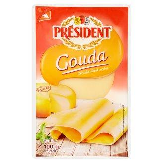Président Gouda plátkový polotvrdý sýr 100g