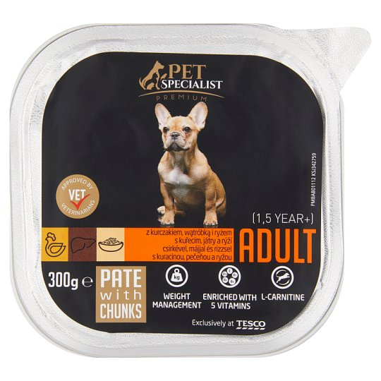 Tesco Pet Specialist Premium Pate with Chunks 300g