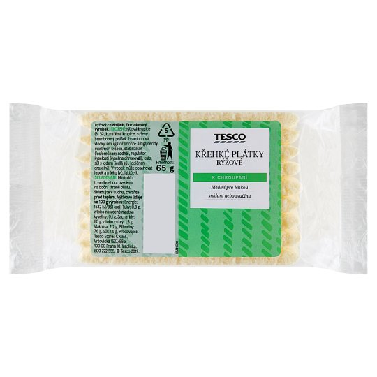 Tesco Křehké plátky rýžové 65g