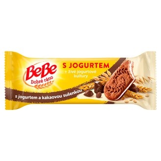 Opavia BeBe Dobré ráno Cocoa Cereal Biscuits with Yoghurt Filling 50.6g