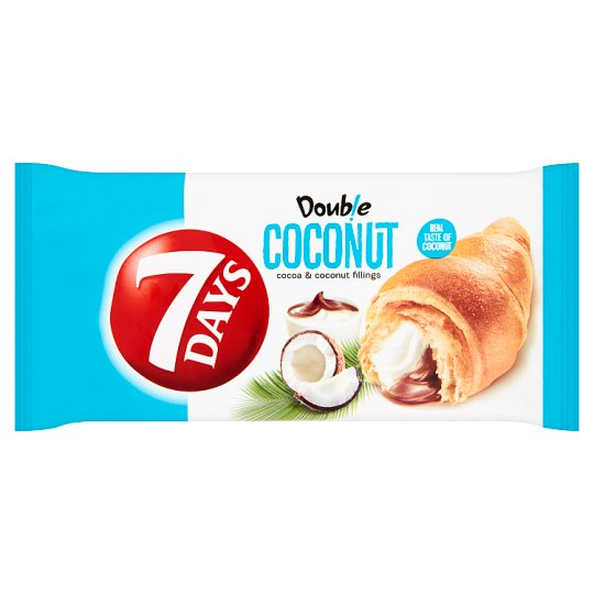 7 Days Double Croissant with Cocoa and Coconut Fillings 60g