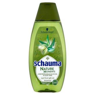 Schauma Nature Moments šampon proti třepení konečků středomořský olivový olej a aloe vera 400ml
